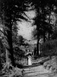 a late afternoon stroll down a country lane by frederick s. batcheller