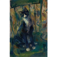 cat on a chair by franz kline