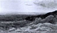 extensive view over the moor by james alfred aitken
