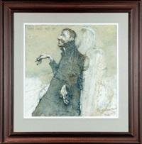 obraz 1630 - wieś brzegi - witkacemu: pokusa - anioł uliczno-przydrożny by jerzy duda-gracz