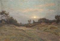 paysage au troupeau de mouton by henri-aimé duhem