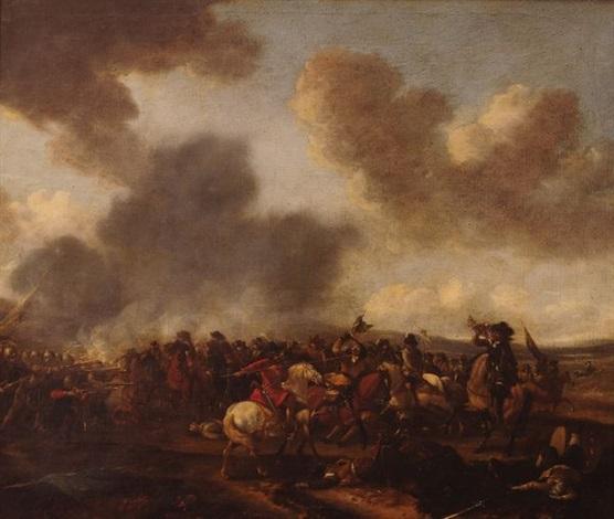 combat de cavalerie et dinfanterie ou le coup de lance by pieter wouwerman