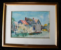 untitled (homescape) by charles webster hawthorne