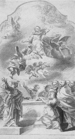 maria himmelfahrt by cosmas damian asam