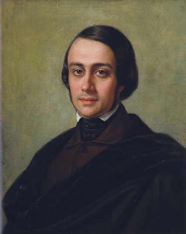 portrait of a young man by heinrich wilhelm ed vogel