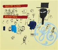 ge short line & reading by jean-michel basquiat and andy warhol