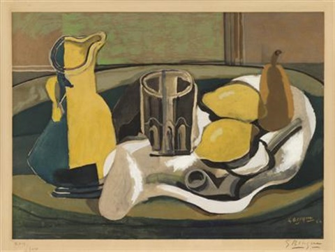 nature morte au citrons by georges braque