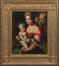 sacra famiglia by domenico di bartolomeo (puligo) ubaldini