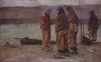 les marins bretons au port de concarneau by achille granchi-taylor