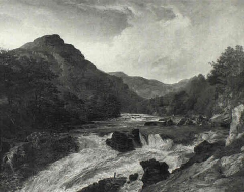 fishing in a mountain river by james hall cranstoun