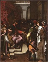 le christ devant pilate by nicolas bollery