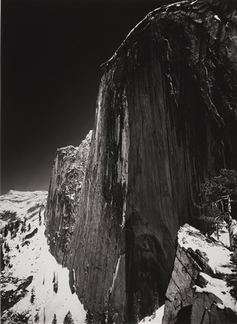 monolith the face of half dome yosemite national park california by ansel adams