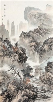 松溪清韵 (landscape along riverside) by liu guang