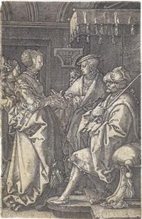 joseph wird von potiphars frau angeklagt by heinrich aldegrever