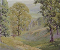 california landscape by warren f. leopold