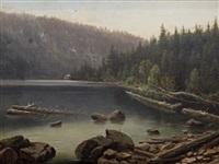 jezero na šumavě by karel liebscher