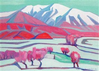winter in the valley by artashes abraamyan