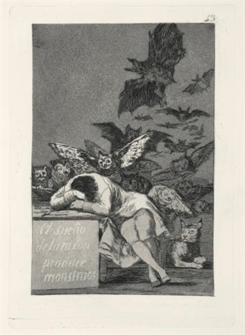 los caprichos set of 80 by francisco de goya