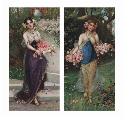 the maidens of spring pair by hans zatzka
