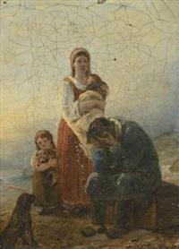 famille éplorée by ary scheffer