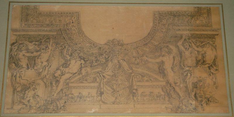 etude des stucs de la galerie dapollon study by eugène delacroix