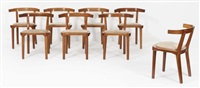 suite de huit chaises (set of 8) by erik gunnar asplund