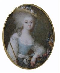 portrait de la comtesse d'artois (?), les cheveux poudrés. by ignazio pio vittoriano campana
