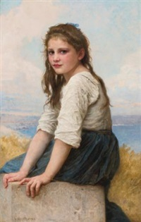 au bord de la mer by william adolphe bouguereau