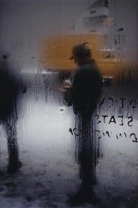 untitled (snow, new york) (+ bus, new york city, fujicolor crystal archive print, 1960; 2 works) by saul leiter