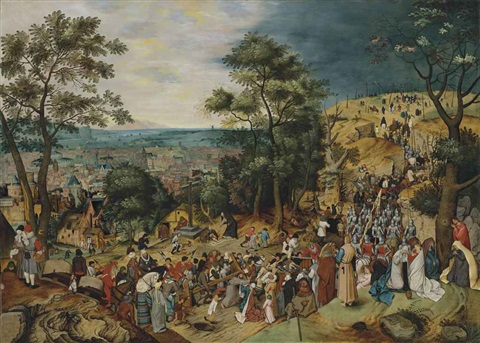 the road to calvary by pieter brueghel the younger
