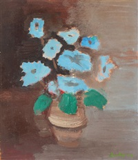 blue flowers by francisc bartok