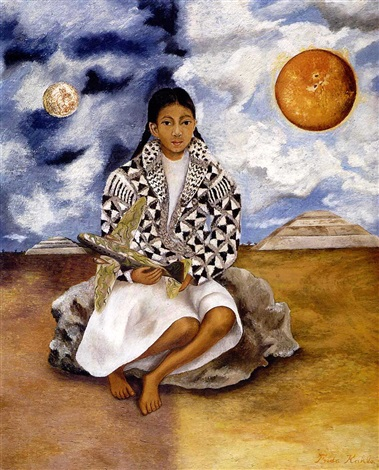 niña tehuacana lucha maria sol y luna by frida kahlo