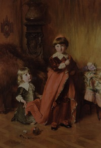 il piccolo cardinale col suo candatario by william ewart lockhart