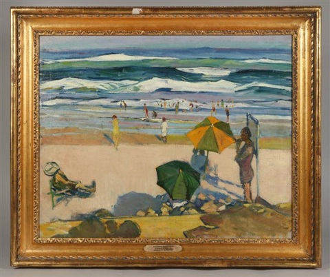 sunny beach ogunquit maine by gertrude fiske