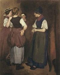 les récits de la grand-mère salvan (les trois soeurs de courbet) by gustave courbet
