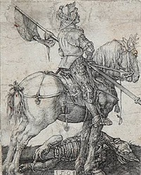 saint george on horseback by albrecht dürer