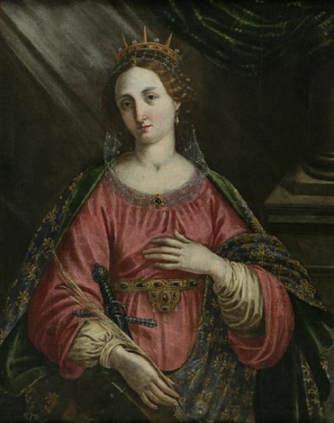 saint catherine of alexandria by jacopo da empoli chimenti