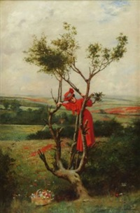 beauty in a tree by charles spencelayh