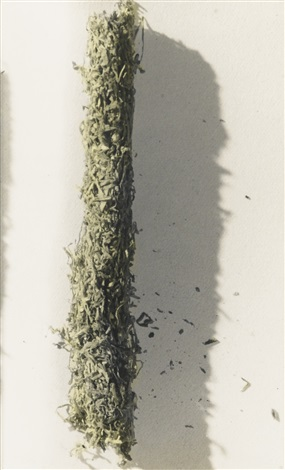 couverture-cigarette (stripped-down cigarette tobacco) by marcel duchamp