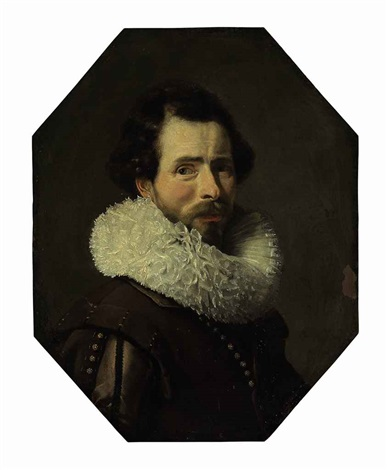 portrait of a gentleman in a brown doublet and ruff by thomas de keyser