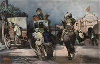 untitled (madrid street scene) by albert alexander smith