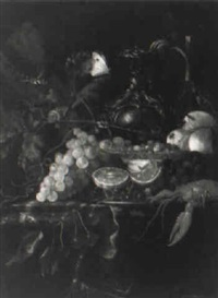 still-life with lobster and grapes by harmen loeding