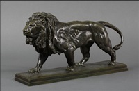 lion marchant by antoine-louis barye