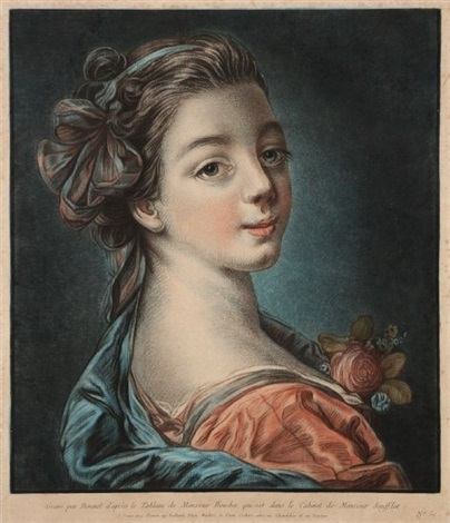 tête de femme after boucher by louis marin bonnet