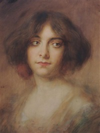 portrait de jeune femme by rené avigdor