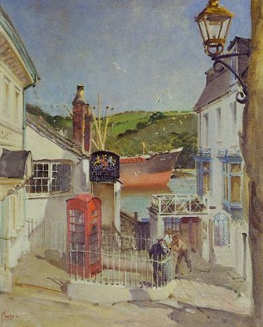 the old customs house fowey cornwall by terence cuneo