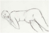 untitled (nude) by akbar padamsee