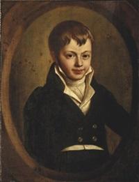 portrait d'un jeune garçon by françois xavier joseph jacquin