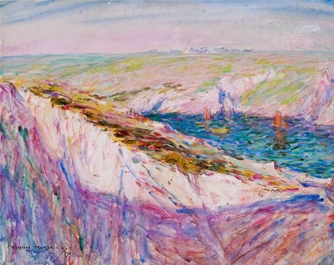 chalk cliffs at goulphar bay by john peter russell