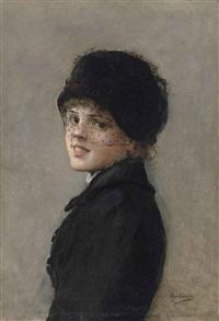 portrait d'une jeune parisienne by jean béraud